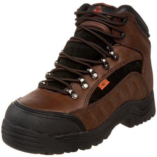 "Thorogood Women's I-Met Technology 6"" Hiking Boot, Dark Brown and Black Suede, 6 W US"