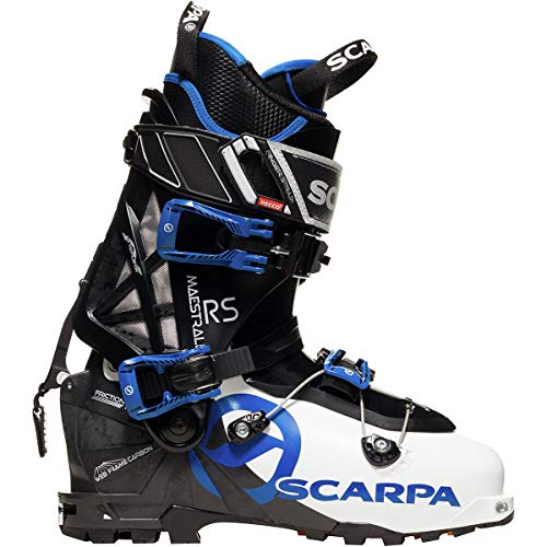 SCARPA Maestrale RS Alpine Touring Boot White/Black/Blue, 27.0