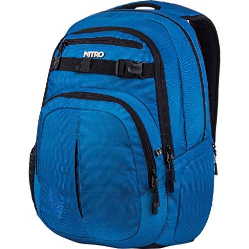 Nitro - Snowboards - Chase Sac à dos - Mixte - Bleu (Blur Brilliant Blue) - 51 x 37 x 23 cm, 35 L