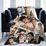 "PDJQSGO Ian So-mer-halder Throws Blanket Light Weight Warm Soft Durable Plush for Home Bedding Living Room 50""x40"""