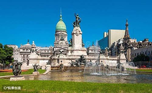 DKMDT Puzzle di 1000 Pezzi Palazzo del Congresso Nazionale, Buenos Aires, Argentina Puzzle per Adulti