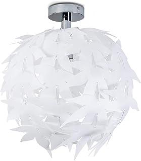 comprar comparacion Dokkas Lámpara de techo en blanco - diseño - redondo - lámpara de techo para salón muy llamativa - apta para LED - lámpara...