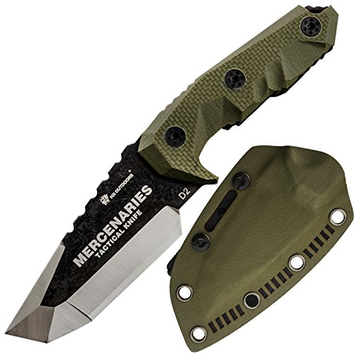 HX OUTDOORS - fixed blade tactical knives with sheath,Tanto Blade outdoor survival knife,Special forces tactical knife,Ergonomics G10 anti-skidding Handle (MERCENARIES - MINI)