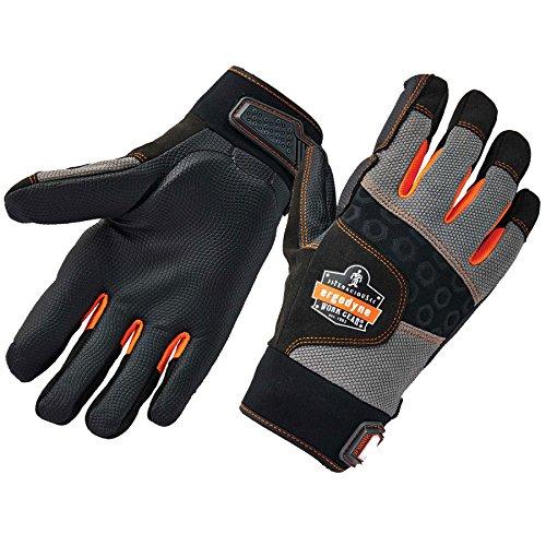 Ergodyne ProFlex 9002 Anti-Vibration Work Gloves, ANSI/ISO Certified, Full Fingered, Large