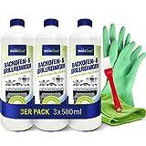 Grillreiniger & Backofenreiniger-Gel mit Mikrofasertuch Pinsel & Handschuhe – 3x 500ml