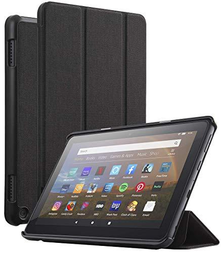 POETIC Slimline Series para Amazon Fire HD 8 (2020) / Fire HD 8 PLUS, compatible con EU Kindle Fire HD 8 Tablet, EU Kindle Fire HD 8 Plus Tablet (10th Generation, 2020 Release), color negro