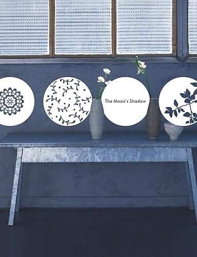 ARTISUE Still Life Scherenschnitte für Fenster Dekoration Wand Aufkleber Hellbraun