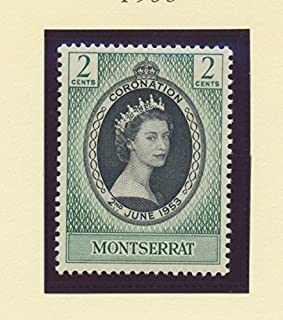 Montserrat Scott #127 - Queen Elizabeth II Coronation, British Commonwealth Common Design Issue From 1953 - Collectible Postage Stamps