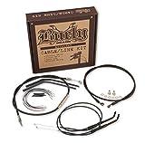 Progressive Suspension Cable and Brake Line Kit for 13in. Bagger Bars - Black B30-1048