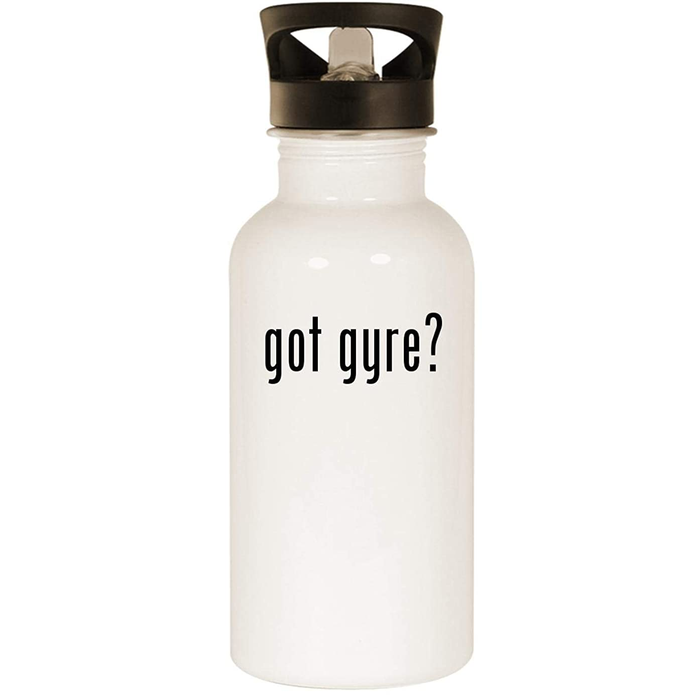got gyre? - Stainless Steel 20oz Road Ready Water Bottle, White