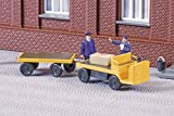 43659 - Auhagen - TT 1:120 Bausatz Elektrokarren mit Anhänger, Balkancar NEU in OVP -