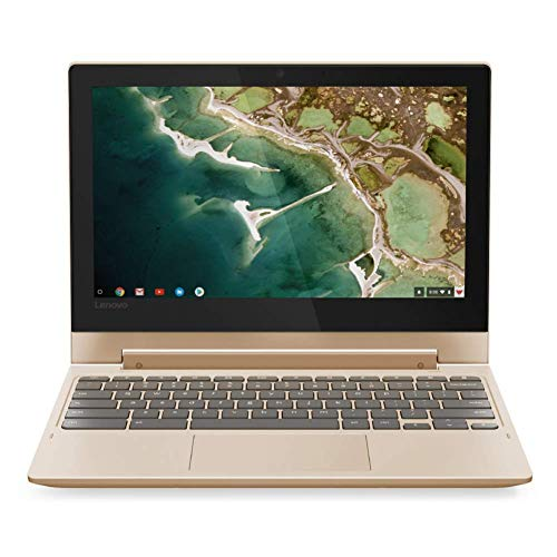 Lenovo Chromebook C330 Convertible Notebook 11.6 Inch HD Touchscreen, MediaTek 64-bit CPU, 4GB RAM, 32GB eMMC, Chrome OS - Champagne (Refurbished)