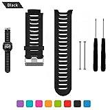 Bemodst Garmin Forerunner 910 XT Bracelet de remplacement, bracelet respirable de montre-bracelet de silicone avec des outils de...