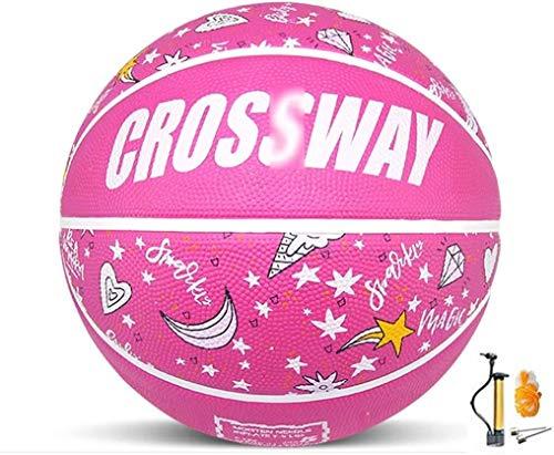 Buy Discount ZHOU.D.1 Basketball- Children's Rubber Wear-Resistant Basketball NO.3-4-5-6-7 Indoor an...