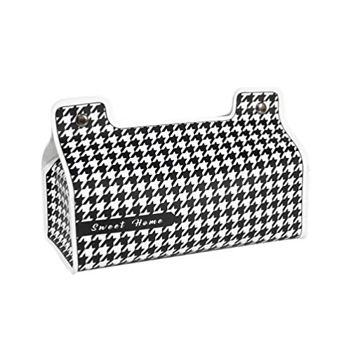 BESPORTBLE Enkel näsdukshållare läder servett dispenser behållare för kök sovrum