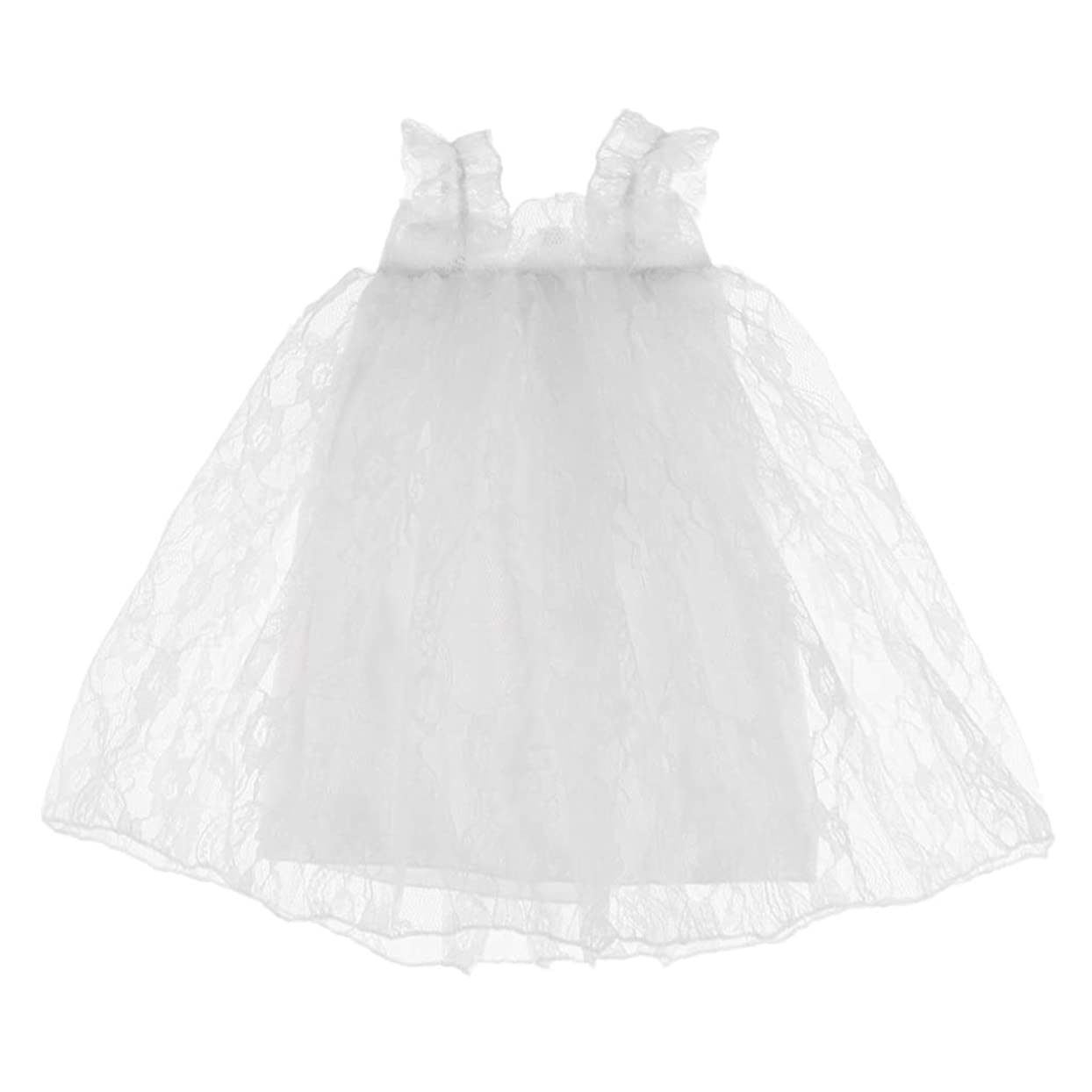 魔術気味の悪いフェローシップドールレースドレス 16インチシャロン人形服 衣類アクセサリー ドールメイキング 飾り ホワイト