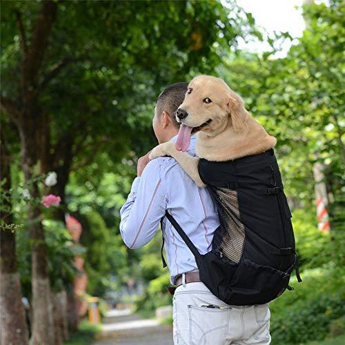 raumkapsel Transportbehälter Faltbarer Hundetasche Träger Haustier Hunderucksack für große, mittelgroße, kleine Hunde Atmungsaktive Reisehundeträger zum Reiten Wandern S-XL80, Schwarz, M