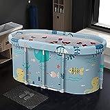 Bañera portátil plegable de PVC impermeable de 120 cm para niños y adultos, bañera de spa, cómoda para grandes tamaños en todas las estaciones Sea World