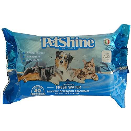 PORRINI Toallitas Higiene para Perro y Gato, Agua Fresca
