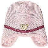 Steiff Baby-Mädchen mit süßer Teddybärapplikation Mütze, Rosa (Barely Pink 2560), 047