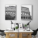 MXmama Schwarz Weiß Italien Kolosseum Poster Rom Altes