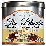 TIA BLENDA - DULCE DE CHOCOLATE CON NARANJA (80 g) - Exquisito Té negro Assam BOP de alta calidad con cacao y naranja. Té en hojas. 40 - 50 tazas. Presentación premium en lata. Loose Tea Caddy.