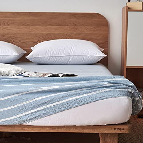 Haiba - Lenzuolo con angoli in cotone per letto king size, 100% cotone, 180 x 200 x 25 cm