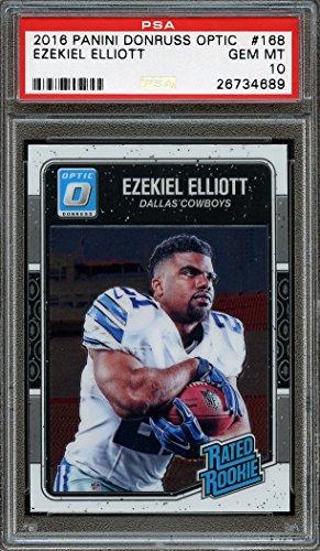 2016 panini donruss optic #168 EZEKIEL ELLIOTT dallas cowboys rookie card PSA 10 Graded Card