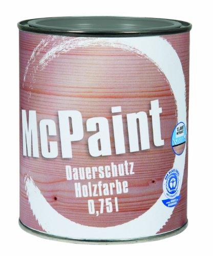 McPaint Wetterschutzfarbe – Holzfarbe für außen auf Acryl Basis mit langanhaltendem Wetterschutz, PU-verstärkt, Möbellack, seidenmatt, 0,750L, Silbergrau - Weitere Farbtöne verfügbar