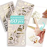 Gold Scrapbook Stickers and Love Scrapbooking Supplies - A Touch...