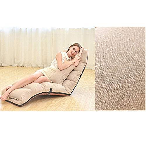 Lqfcjnb Sofá silla ajustable para interiores y exteriores, juego de diván cinco ángulos diferentes, cama reclinable (color: morado, tamaño: alargado)