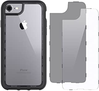 Griffin Survivor Adventure iPhone 8 Case with Impact Resistant Design and 2 Backplates - Black/Smoke/Clear