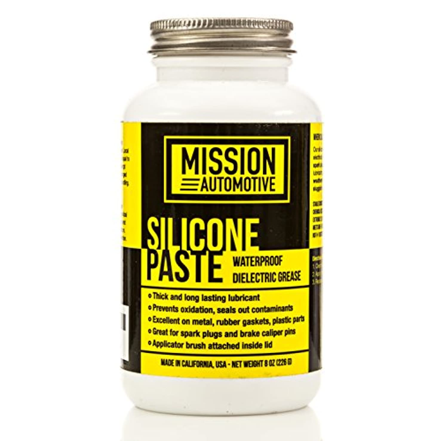 Mission Automotive Dielectric Grease/Silicone Paste/Waterproof Marine Grease (8 Oz.) - Excellent Silicone Grease