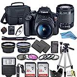 Canon EOS Rebel T7 DSLR Camera Bundle with Canon 18-55mm Lens + 2pc