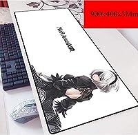 高度なゲーム、特大、900×400×3 mmのためのゲーミングマウスマットラージマウスマットPC用ノンスリップ底付き、防水 (Color : A)