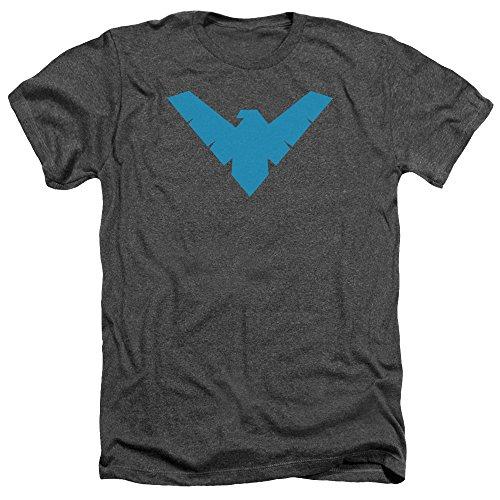 Batman Das Nachthemd-Heide-T-Shirt der Männer, Small, Charcoal