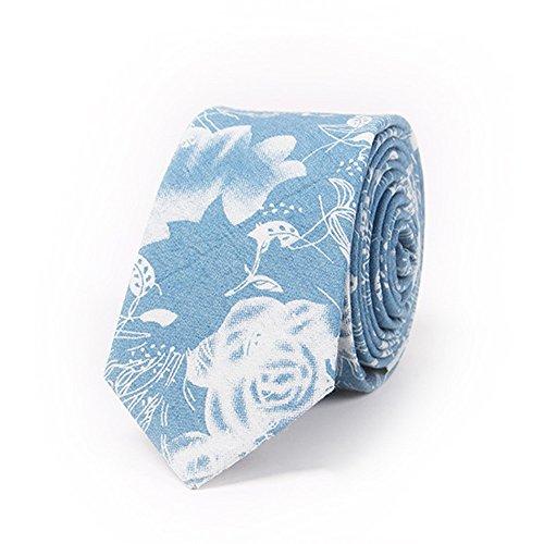 ZSRHH-Neckchiefs Halstücher Herren Krawatte Print Krawatte Blaue Baumwolle Krawatte mit Blumenmuster Herren Krawatte (Farbe : Hellbraun)