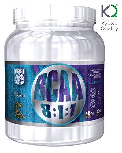 BCAA 8:1:1 - Muscle Center - Aminoacidi Ramificati Kyowa 400 CPR da 1 g con vitamina B6