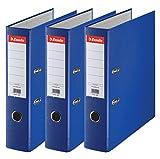Esselte 624291 -  Archivador con anillas (Capacidad 550 hojas, 3 unidades), azul, 75 mm