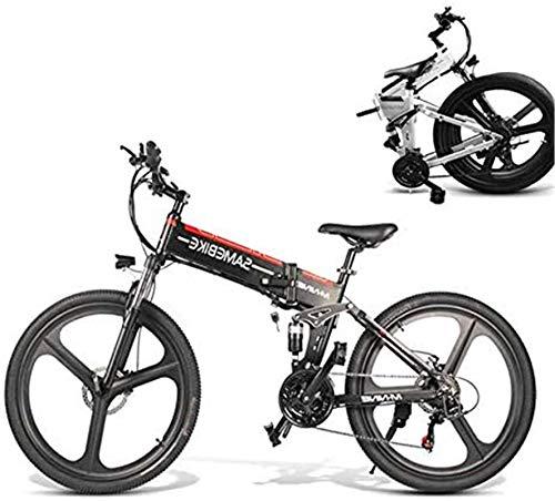 RDJM Bici electrica, 350W eléctrica Plegable Bicicleta de montaña, 26