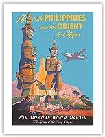 アルミメタルノベルティ危険サインがフィリピンに飛ぶ-そしてクリッパーによるオリエント-パンアメリカンワールドエアウェイズ、家の装飾のためのノベルティメタルサイン男性女性の洞窟のためのブリキサイン