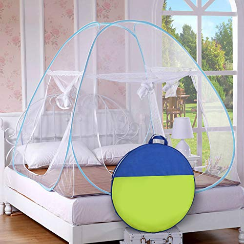 Story@Home Mosquito Net Foldable Queen - XL Size Double Bed (Blue)