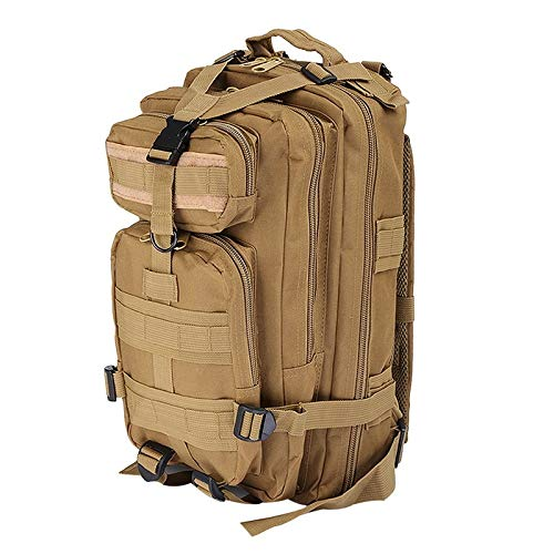 Backpack Military Backpack Waterproof Rucksack Outdoor Camping Hiking Fishing Bags (Color : Khaki)