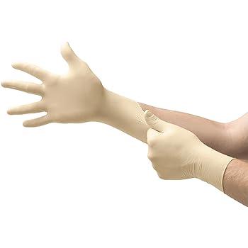 Microflex MF300M Powder Free Diamond Grip Latex Gloves Size Medium, 100 Box