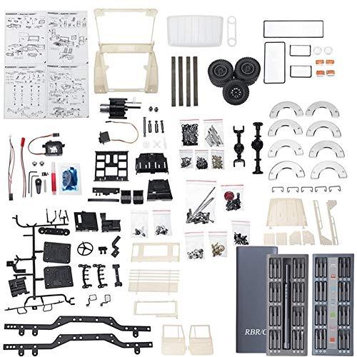 HDHUIXS Aplicable 1/16 Metal Kit sin Montar Edition For WPL C44KM FJ40 C44 4WD Escalada Camiones Fuera de Carretera de Piezas y Accesorios de Bricolaje Durable (Color : White)