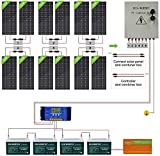 ECO-WORTHY 2300W Off Grid Solar Panel Kit 24V Complete Solar System with 12pcs 195W Solar Panel and 3500W Inverter and 6 String...