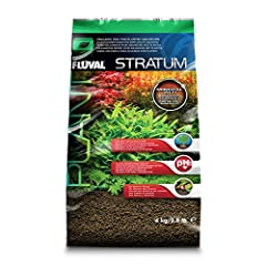 Fluval Stratum is made of mineral rich volcanic soil Stimulates strong aquarium plant growth Promotes neutral to mildly acidic pH Suitable for live plants or shrimp 8.8 lb. bag