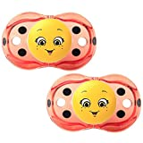 Razbaby Keep-It-Kleen Pacifier - Lola Ladybug - 2 Count , 0-36 Months by Razbaby