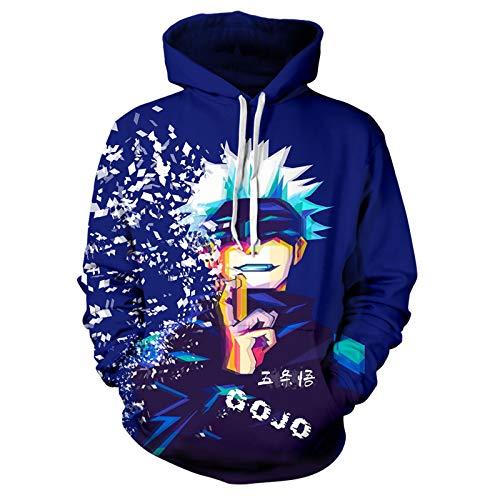 Unisex Jujutsu Kaisen Yuji Hoodie Gojo Satoru Sweatshirt 3D Print Pullover For Adluts/Youth Gojo-XX-Large