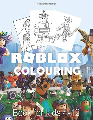 Roblox Colouring Book for kids 4-12: High Quality fun activity book kid ROBLOX Coloring Book  (Gift for kid)